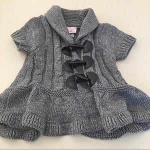 Little Lass Metallic Toggle Sweater 12 months